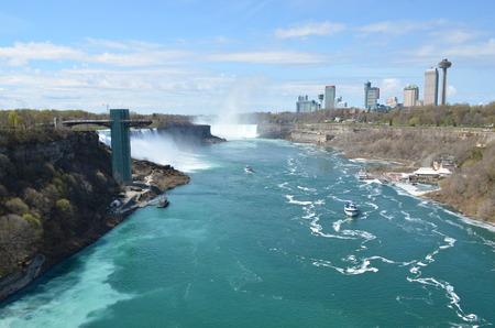 the edge of horseshoe falls: Niagara Falls, USA, CANADA
