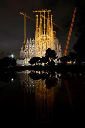 La Sagrada Familia, Barcelona, Spain. Editorial