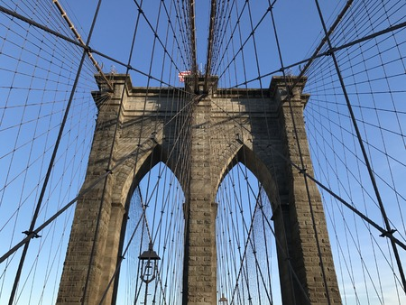 Brooklyn Bridge in New York City, USA.