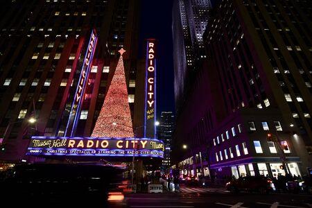 Giant Christmas Ornaments in Manhattan, New York City, USA.