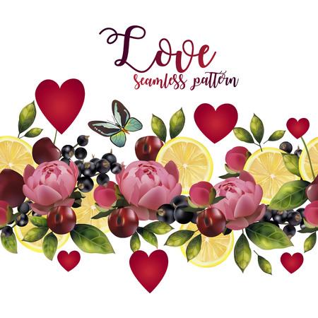 seamless pattern of love