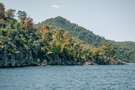 guadaña: Exotic Aegean islands in the Mediterranean Sea. Turkey, Marmaris.