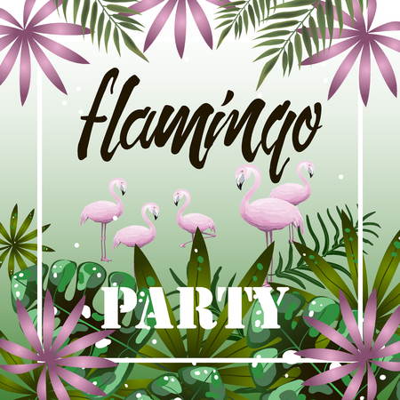 Banner Flamingo Party