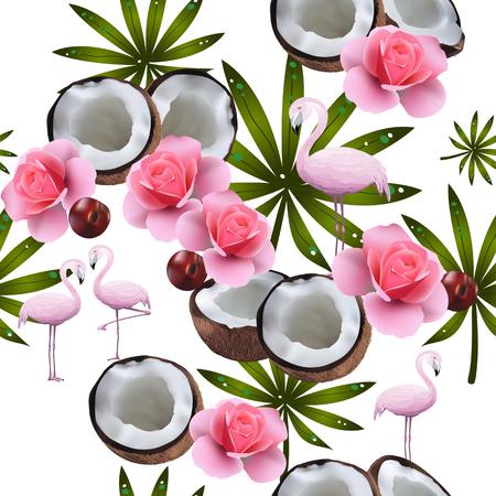 Seamless summer background Illustration