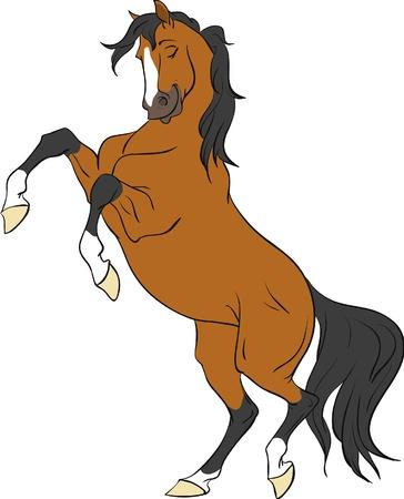 Cartoon Bay cheval cabré jusqu'à isolées