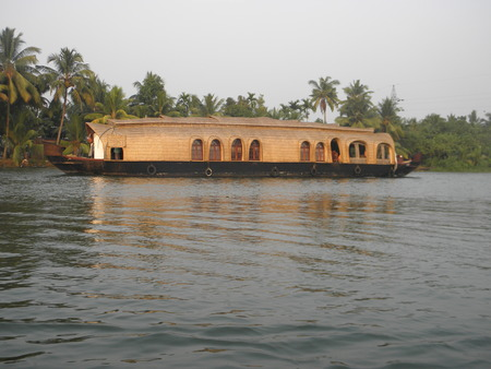 Houseboat on backwaters photo
