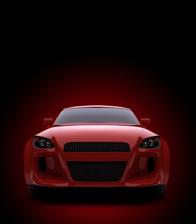 sports cars: 3d render sport car