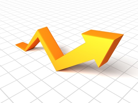 3d arrow graph  Stock Photo - 10031480