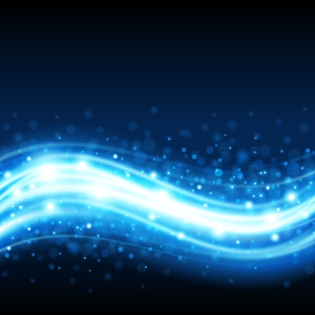 Blue gladde golfvorm vector achtergrond eps 10 Vector Illustratie