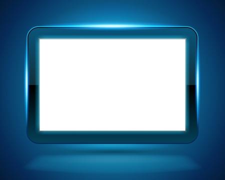 отображения: Экран дисплея лету светлом фоне вектор. Eps 10.