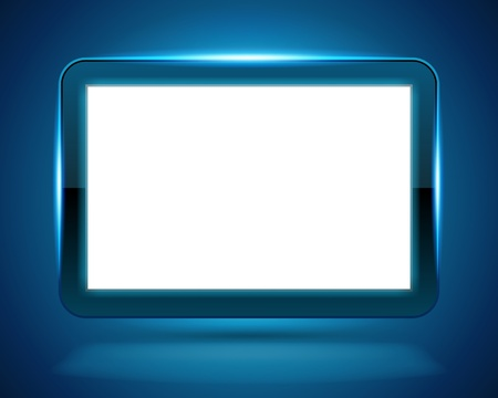 screen: Display Screen fly with light vector background. Eps 10.