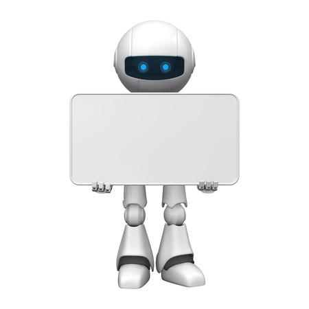 robot: Åšmieszne pobyt robot z pustym hasÅ'em Zdjęcie Seryjne