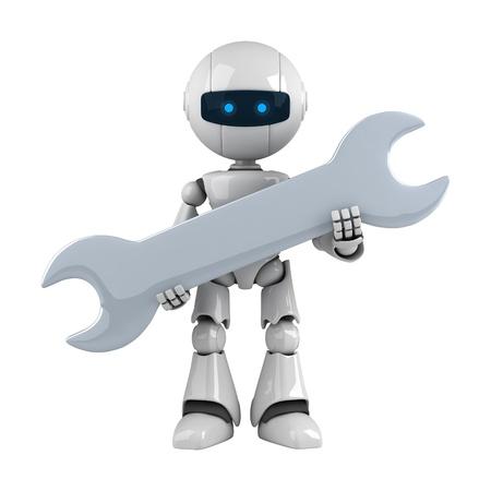 robot: Śmieszne robota pobyt z kluczem Zdjęcie Seryjne