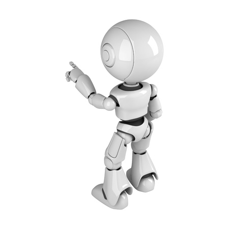 stay: Funny robot stay and point