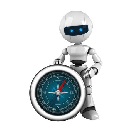 funny robot: Robot dr�le rester et montrer la boussole