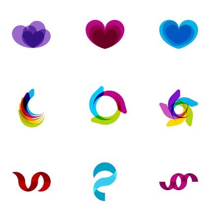 Logo ontwerp elementen set 43
