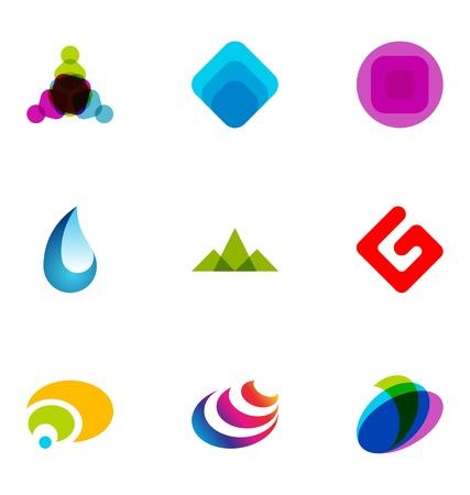 Logo design elements set 41 Stock Vector - 10042519
