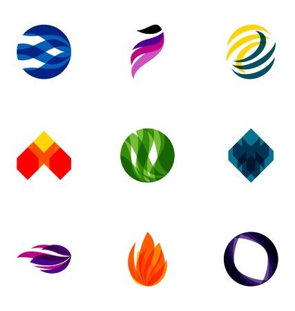 Logo design elements set 39 Illustration