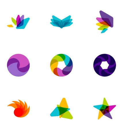 logotipo abstracto: Elementos de dise�o de logotipo conjunto de 36