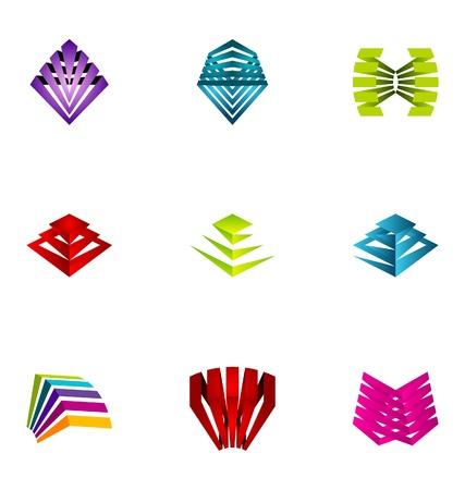 loghi aziendali: Elementi di design Logo impostare 33 Vettoriali