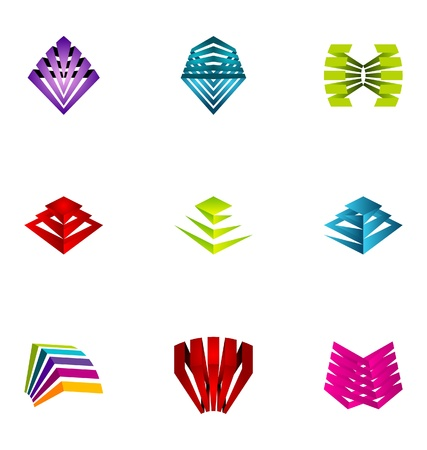 logotipos de empresas: Elementos de dise�o de logotipo conjunto de 33 Vectores