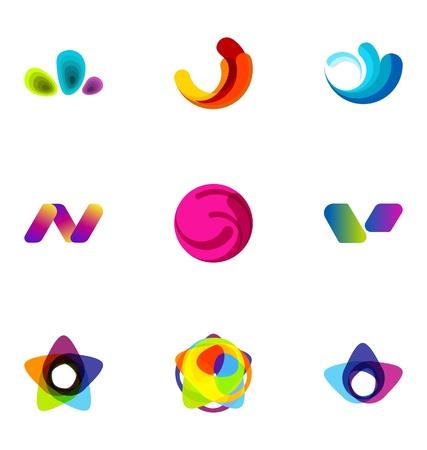 merken: Logo ontwerp elementen set 32