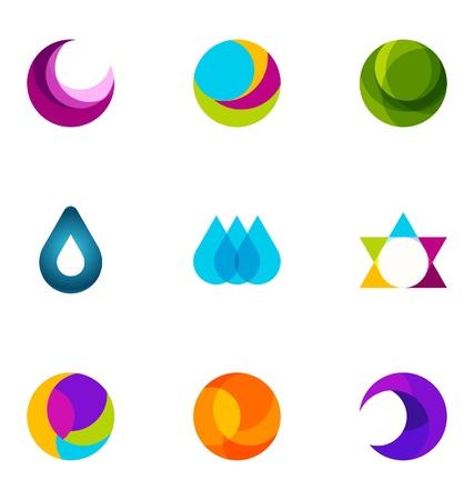 trendy shape: Logo design elements set 31 Illustration