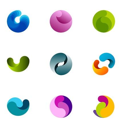loghi aziendali: Elementi di design del logo fissato al 30