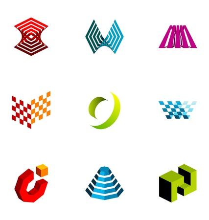 tech logo: Logo design elements set 27 Illustration