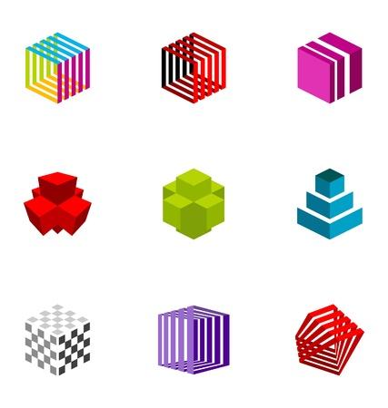 Logo design elements set 25 Stock Vector - 10042545