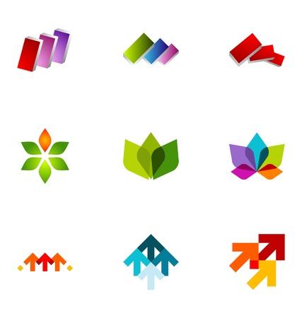 logos negocios: Elementos de dise�o de logotipo conjunto de 23