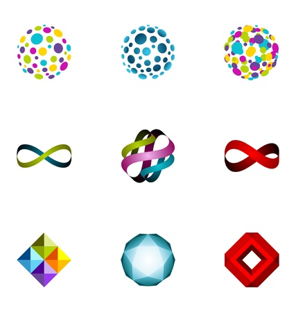 Logo design elements set 20 Stock Vector - 10042518