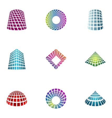 logotype: Logo design elements set 15