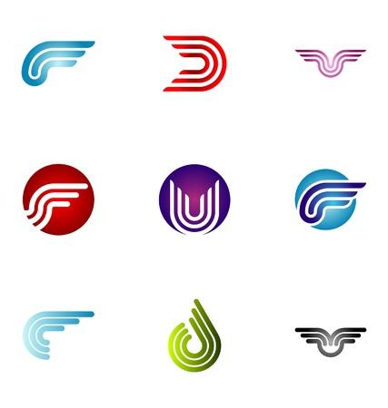 brand name: Logo design elements set 14 Illustration