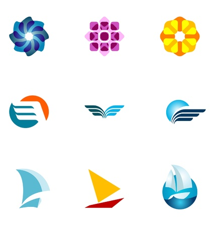 logos empresas: Conjunto de elementos de dise�o de logotipo 13
