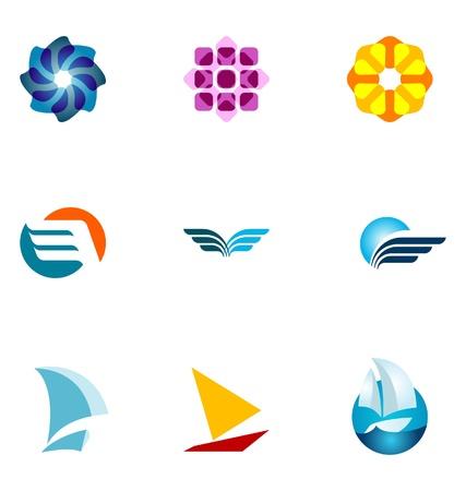 loghi aziendali: Elementi di design del logo fissato al 13