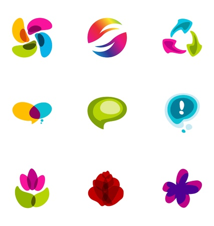 Logo design elements set 12 Stock Vector - 10042531