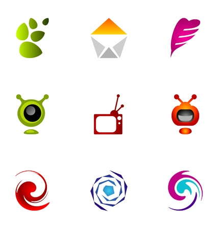 Logo design elements set 7 Stock Vector - 10042464