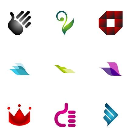 Logo design elements set 5 Stock Vector - 10042542