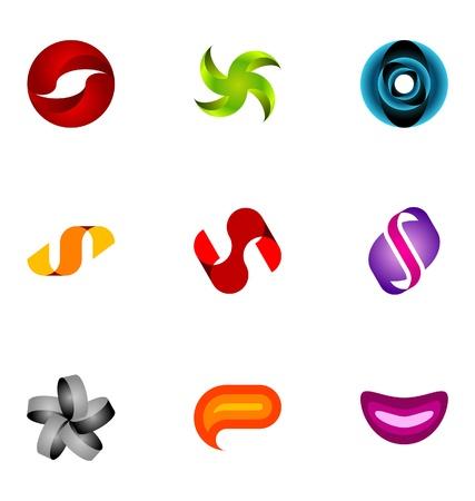 Logo design elements set 4 Vector