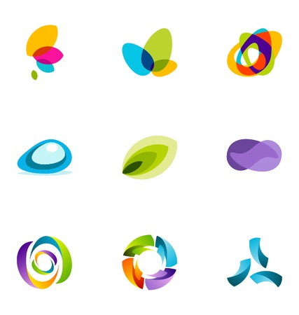 abstract logos: Logo design elements set 3
