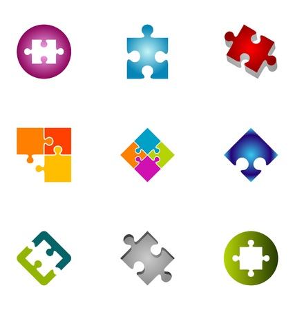 puzzle icon: Logo design elements set 1