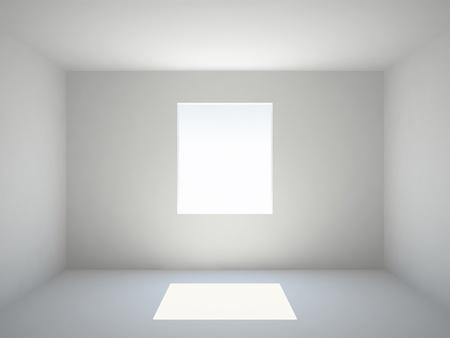 Empty white room with window photo
