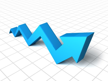 Blue arrow graph Stock Photo - 10098242
