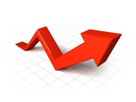 Rojo gráfico de la flecha