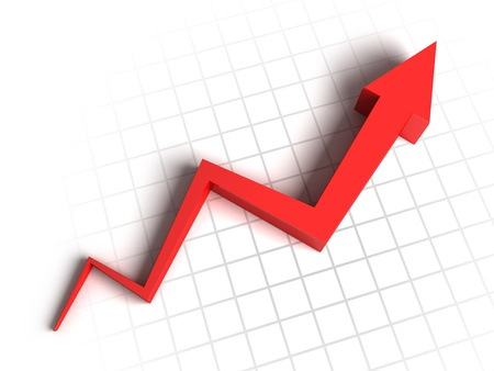 Red arrow graph Stock Photo - 10098223