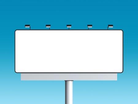 Empty billboard with sky