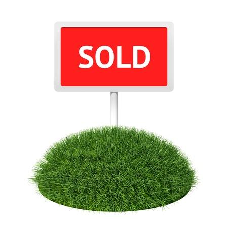 Signboard on grass land Stock Photo - 10098248