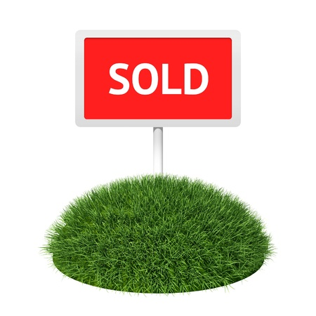 Signboard on grass land Stock Photo - 10098248