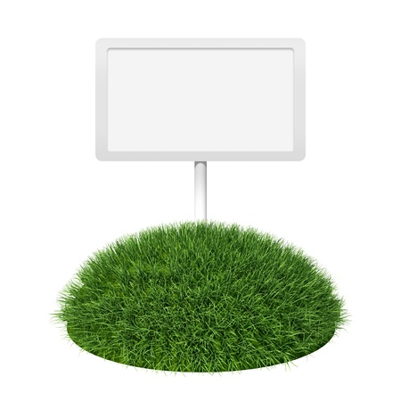Empty signboard on grass land Stock Photo - 10098247